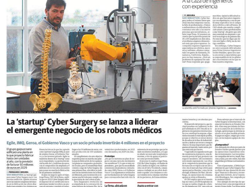 Cyber Surgery Diario Vasco